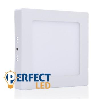 12W LED mennyezeti lámpa falon kívüli négyzet meleg fehér