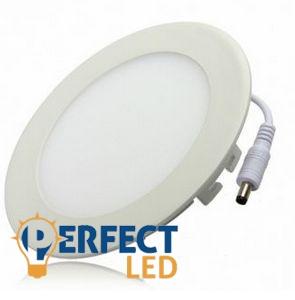 6W természetes fehér mennyezetbe süllyeszthető kerek LED panel
