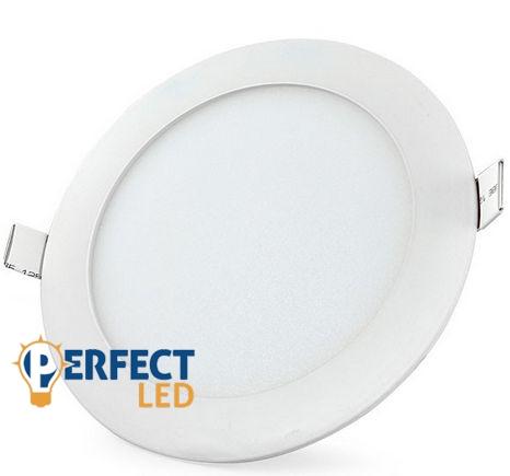 12W hideg fehér mennyezetbe süllyeszthető kerek LED panel