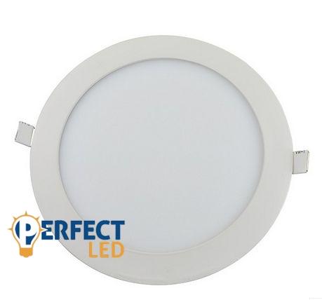 18W meleg fehér mennyezetbe süllyeszthető kerek LED panel