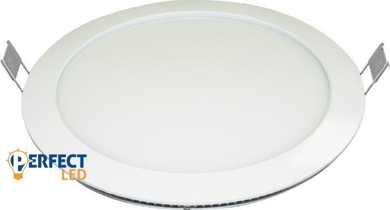 24W meleg fehér mennyezetbe süllyeszthető kerek LED panel
