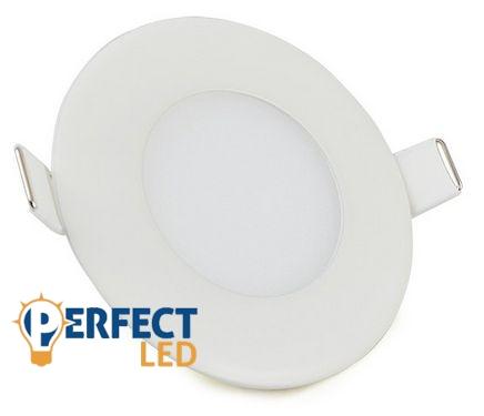 3W hideg fehér mennyezetbe süllyeszthető kerek LED panel