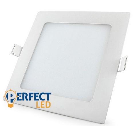 12W természetes fehér mennyezetbe süllyeszthető négyzet LED panel