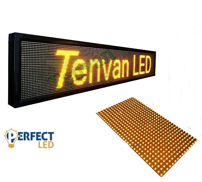 100x20CM LED fényújság, fényreklám programozható LED tábla beltéri sárga