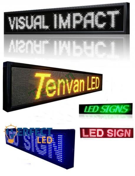 64x20CM beltéri LED fényújság, fényreklám programozható LED tábla