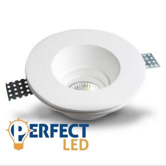 Mennyezetbe süllyeszthető kerek festhető GIPSZ LED lámpatest kerek