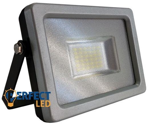 20W PRÉMIUM LED reflektor szürke kültéri természetes fehér