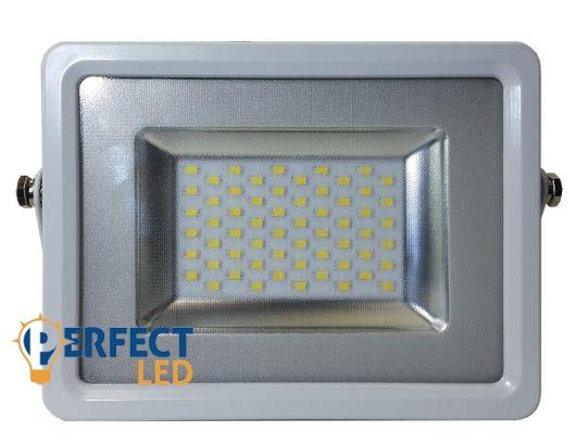 30W PRÉMIUM LED reflektor ezüst kültéri természetes fehér