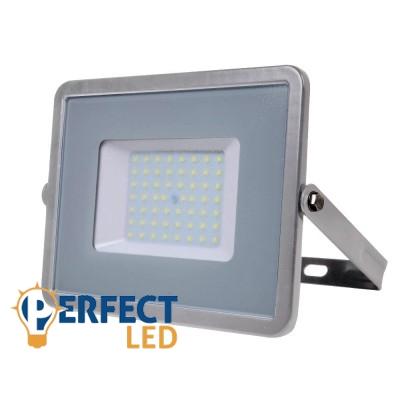 50W PRÉMIUM LED reflektor szürke kültéri meleg fehér