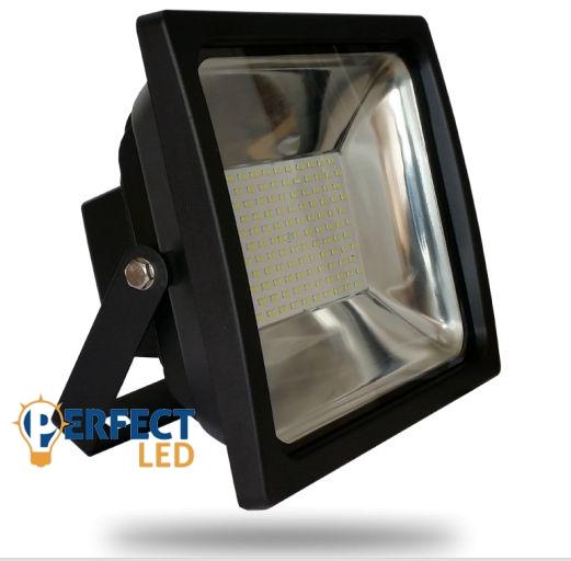 70W PRÉMIUM LED reflektor fekete kültéri meleg fehér