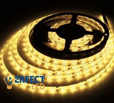 4,8W/m LED szalag hangulatvilágítás 60 led/m 3528 kültéri IP65 meleg fehér