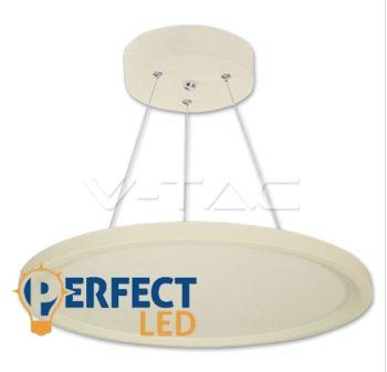 Függesztett 36W LED panel kerek 50cm-es meleg fehér