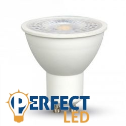 7W GU10 LED spot izzó meleg fehér