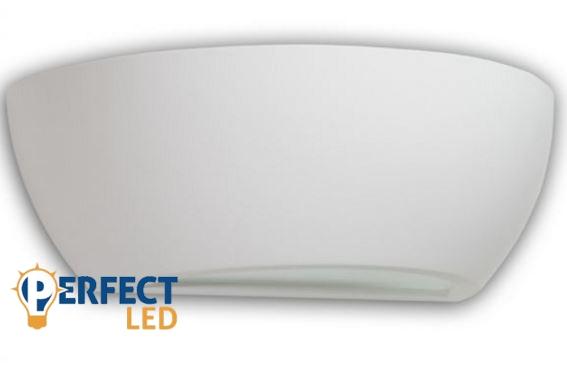 Fali gipsz lámpatest - ovális, 310x110x160 mm – E14 LED fényforráshoz