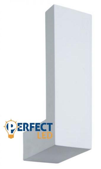 LED fali gipsz lámpa, indirekt világítás – 1x3W CREE melegfehér LED