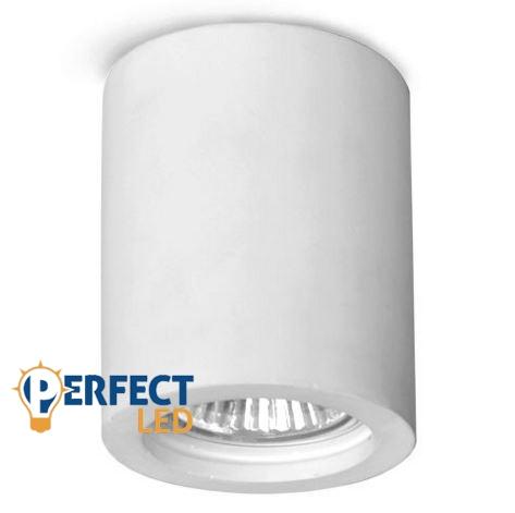 Mennyezeti gipsz lámpatest - henger, 70 mm átmérő - GU10 LED fényforrásokhoz