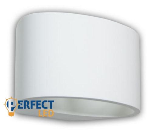 Gipsz fali lámpa szerelőlemezzel G9 foglalattal, festhető