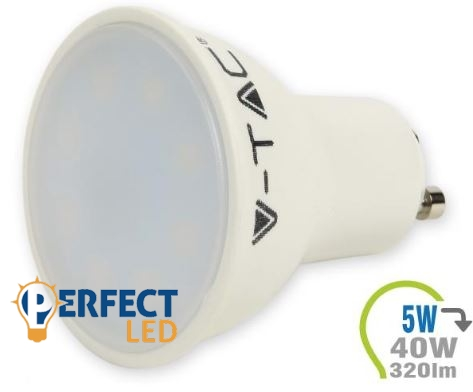 5W GU10 LED spot izzó, égő hideg fehér