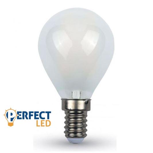 4W E14 LED filament kisgömb égő természetes fehér