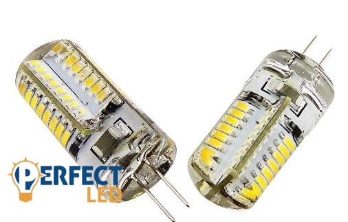 G4 3W LED égő 12V szilikonos meleg fehér