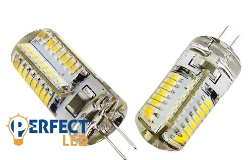 G4 3W LED égő 12V szilikonos hideg fehér