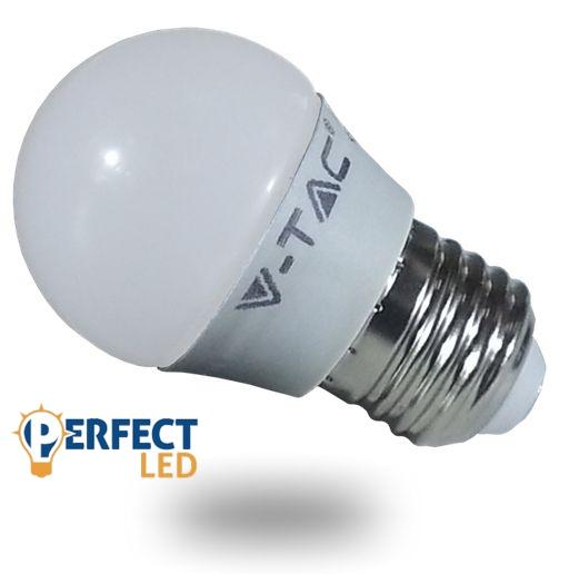 6W E27 LED kisgömb izzó, égő hideg fehér