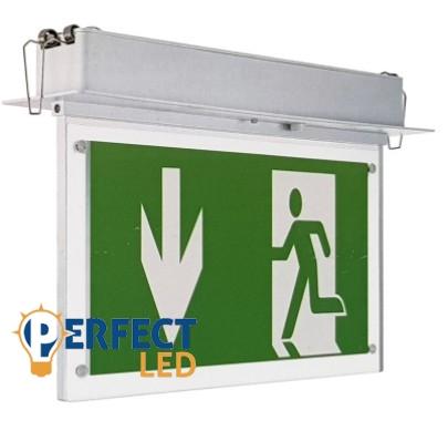 LED vészkijáratjelző extilámpa süllyeszthető 2W-os