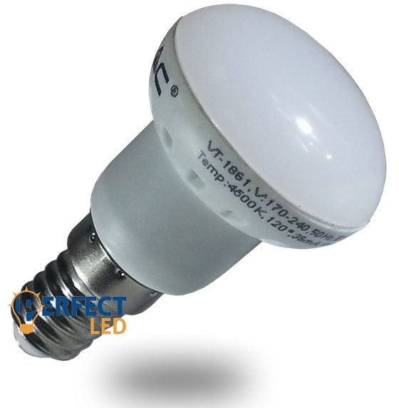 3W E14 LED izzó, égő R39 fejjel hideg fehér