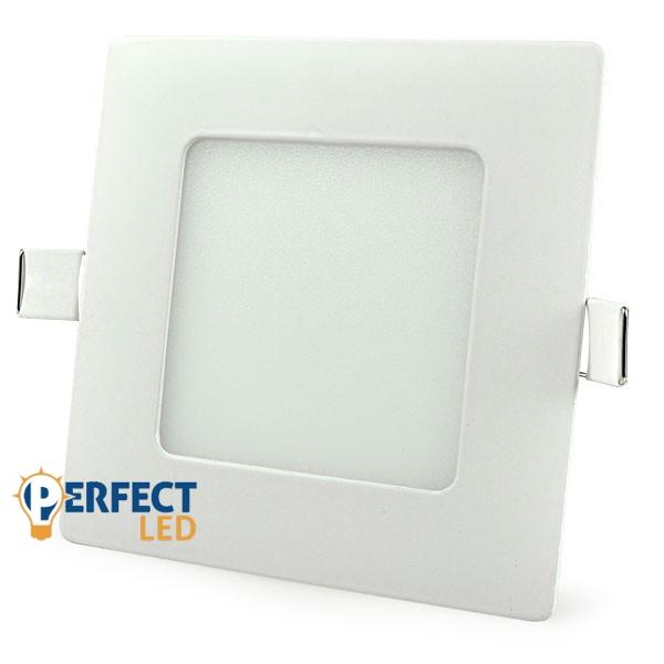 6W természetes fehér mennyezetbe süllyeszthető négyzet LED panel