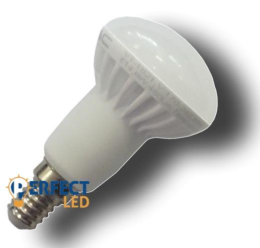 6W E14 LED izzó, égő R50 fejjel hideg fehér