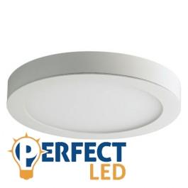 15W LED mennyezeti lámpa, falon kívüli kerek meleg fehér