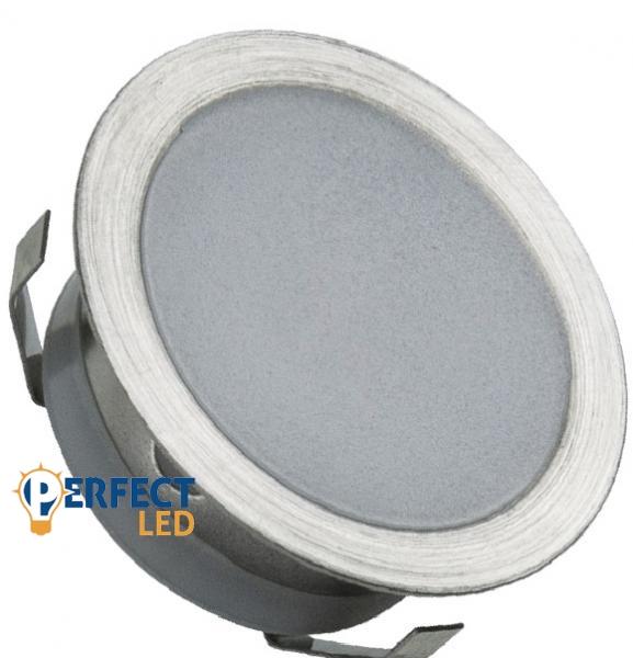 Kis Fényerejű 0,6W LED Prémium Lépcsővilágítás Kör Természetes Fehér