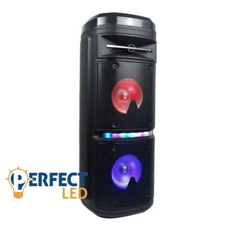 30W Tölthető Party Hangfal Vezetékes Mikrofonnal RGB Világítással