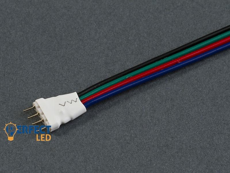 RGB (4 PIN) forrasztható tüskés csatlakozó (14 cm) 5050 RGB LED Szalaghoz