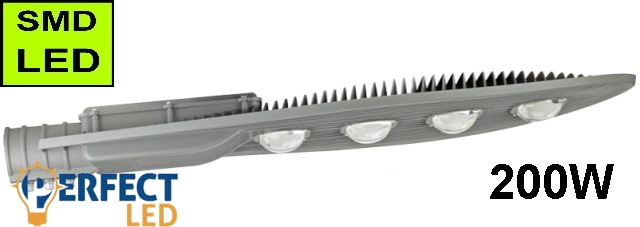 LED Közvilágítási lámpatest, utcai világítás 200W