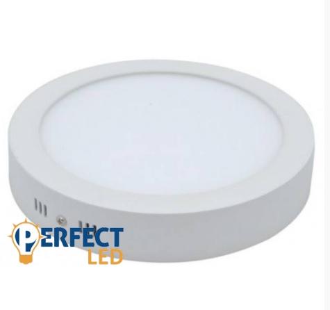 18W LED mennyezeti lámpa falon kívüli kerek hideg fehér