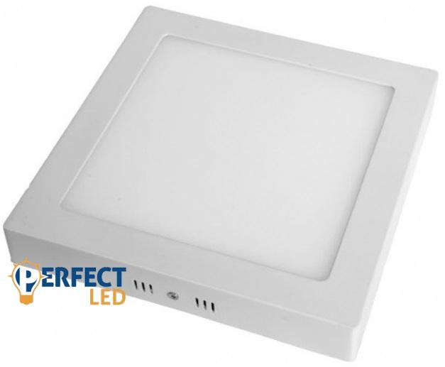 18W LED mennyezeti lámpa falon kívüli négyzet hideg fehér