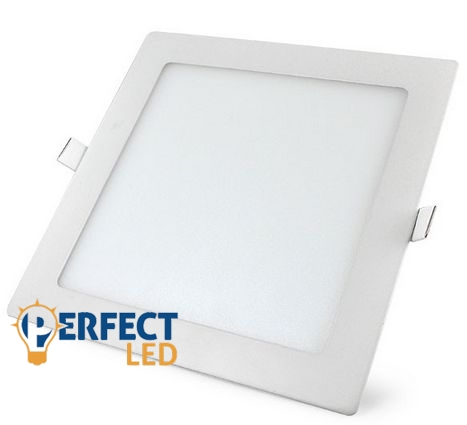 18W meleg fehér mennyezetbe süllyeszthető négyzet LED panel