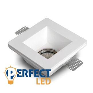 Mennyezetbe süllyeszthető négyzet festhető GIPSZ LED lámpatest