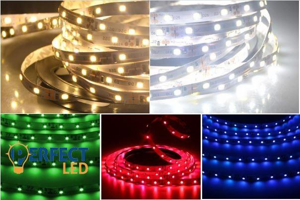 5m választható színű LED szalag szett tápegységgel