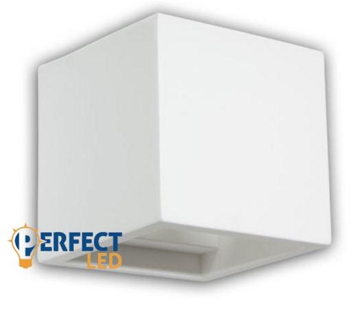 Fali gipsz lámpatest - kocka, festhető, 115x115x115 mm – G9 LED fényforráshoz