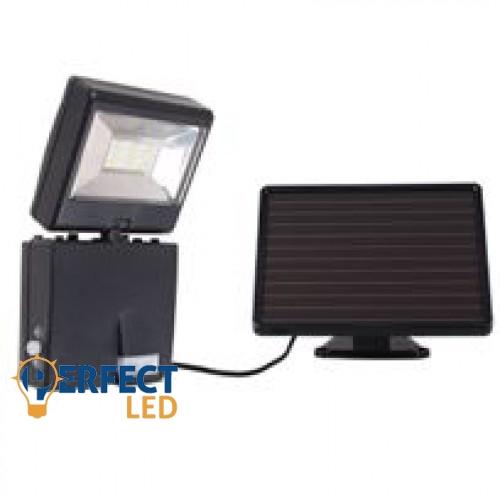 Napelemes LED reflektor, lámpa, nagy teljesítményû LED fényvetõ szolár paneles mozgásérzékelõvel új dizájn