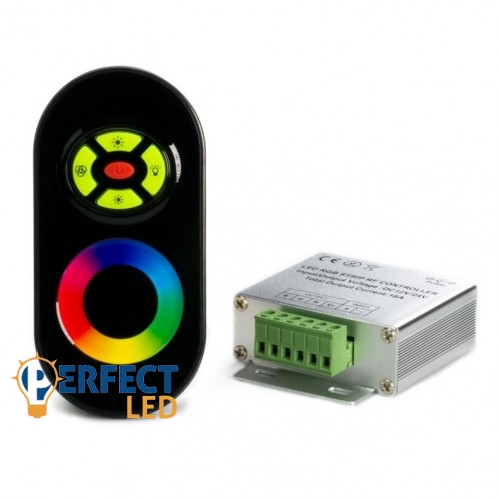 RGB LED szalag érintõs vezérlõ rádiós touch+5 gomb távirányító